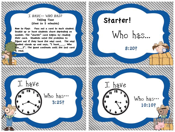Run Teacher Run!: Math Madness Wednesday: Telling Time