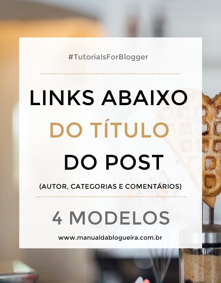 Links abaixo do título do post
