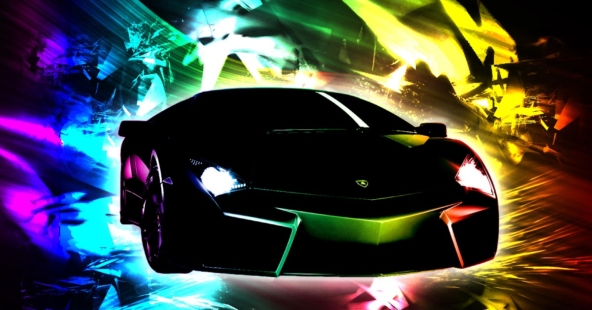 Cool Black Wallpapers Sports: Rainbow Cool Lamborghini Wallpapers