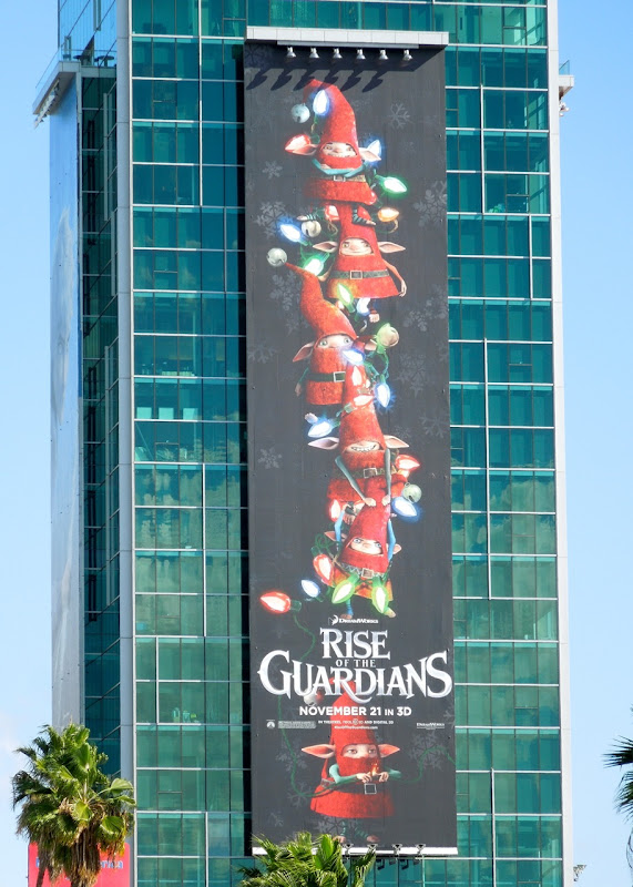 Giant Santa Elves Rise of Guardians billboard