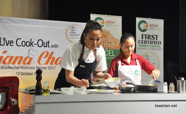 Diana Chan working her magic!