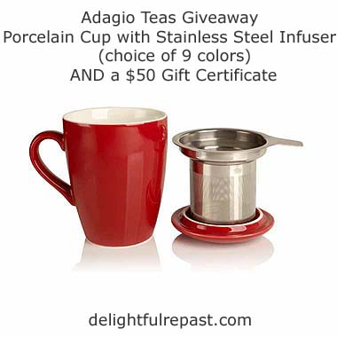 Adagio Teas Review and Giveaway / www.delightfulrepast.com