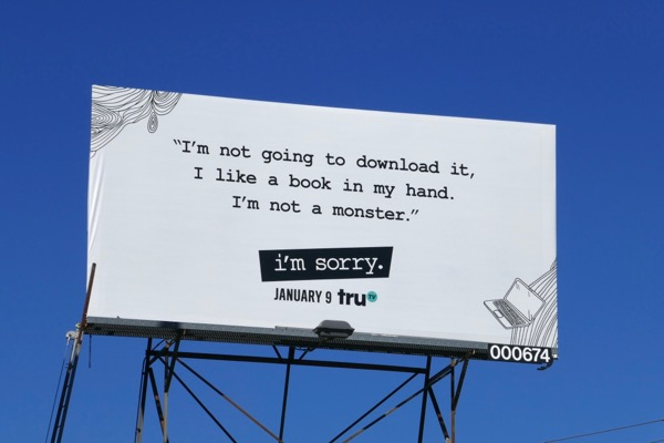 book monster I'm Sorry season 2 billboard