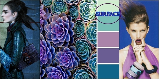 shades of purple and turquoise color combination