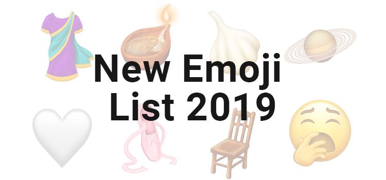 New emoji for 2019