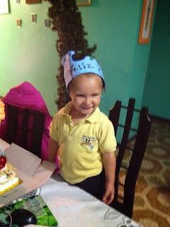 Fabian feliz por su cumpleaños