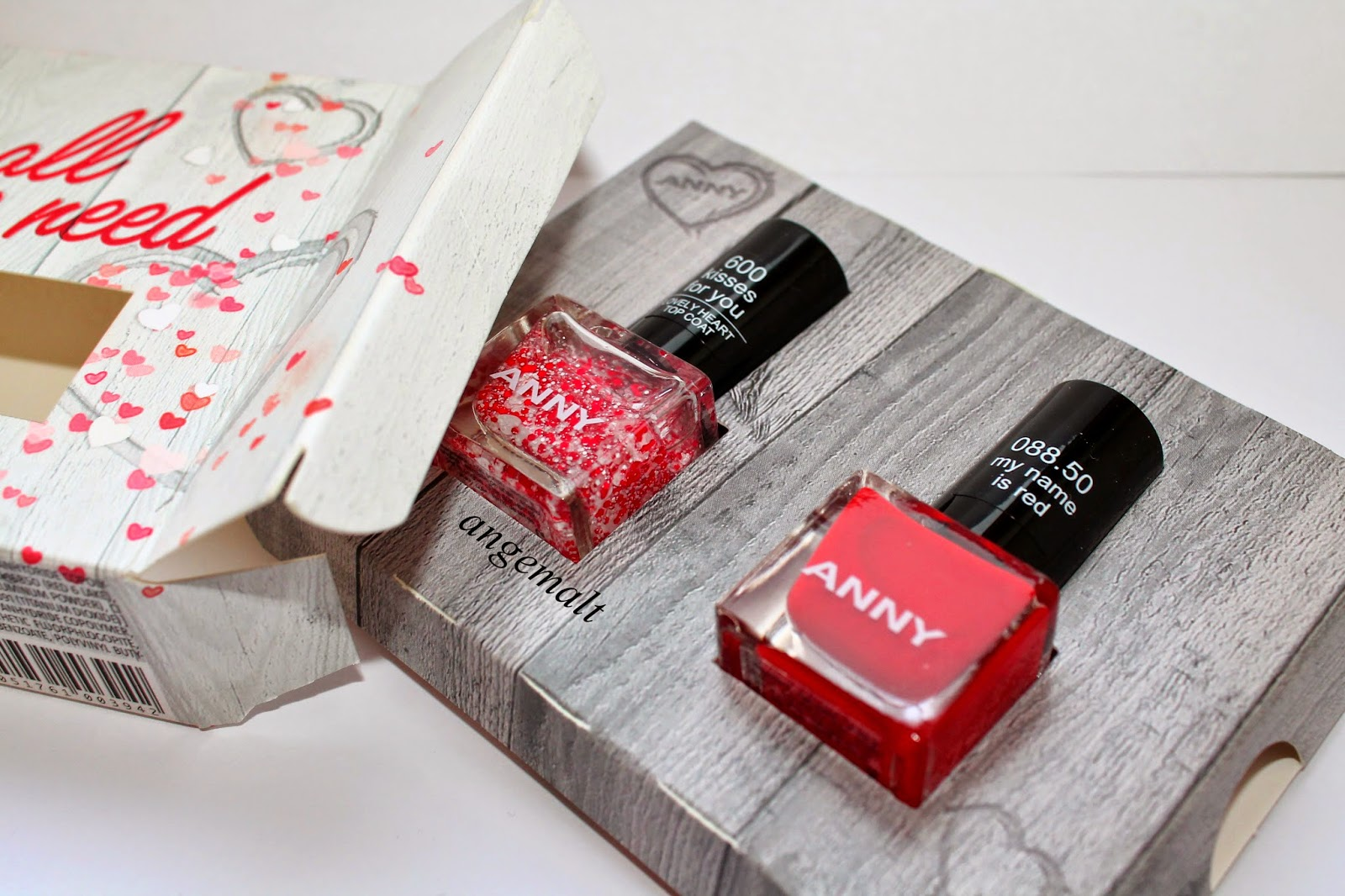 Valentinstag Nagellack-Set ANNY LOVE IS ALL WE NEED