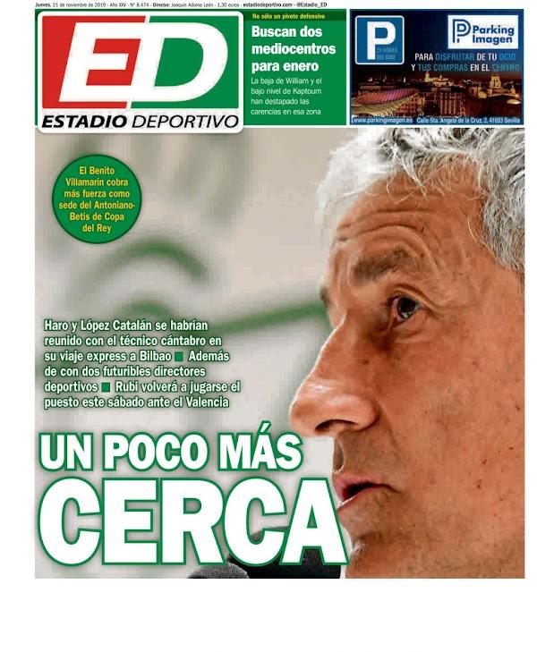 """Betis, Estadio Deportivo: """"Un poco más cerca"""""""