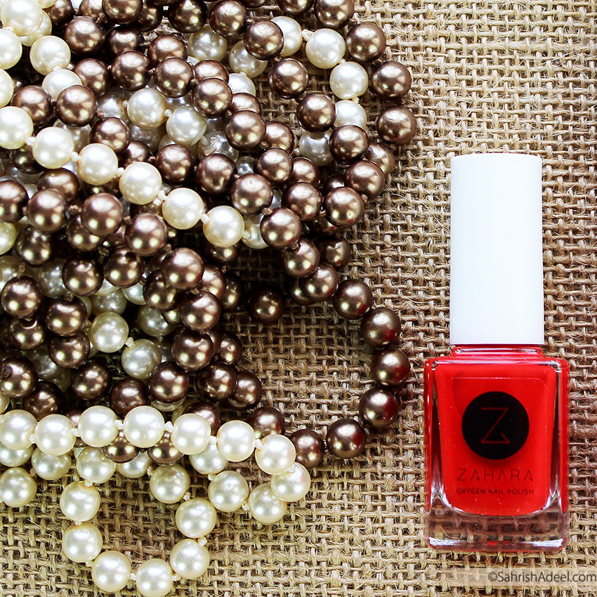 Halal, Breathable & Wudhu Friendly - Oxygen Nail Polish by Zahara Cosmetics - Review, Swatch & Discount Code