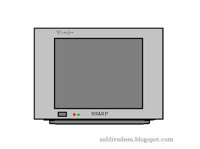 TV SHARP Wonder LED berkedip-kedi
