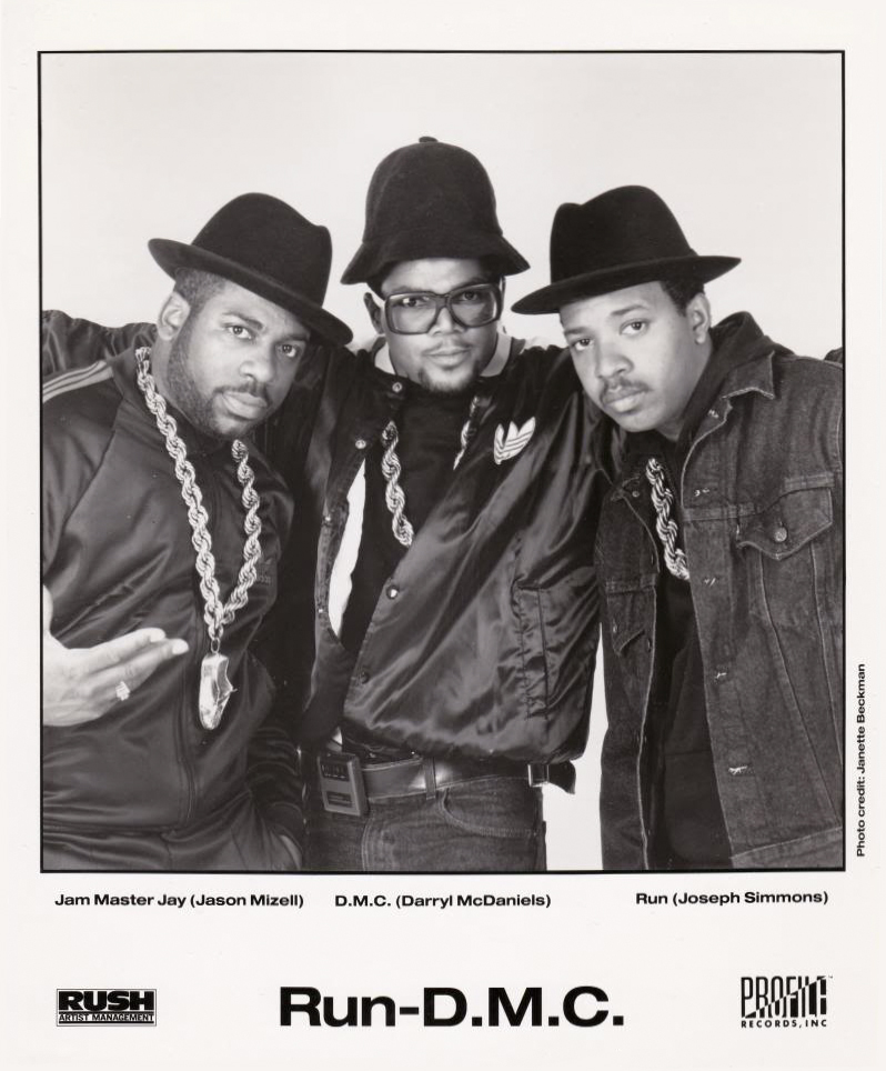 Run-DMC Publicity Photo Tougher Than Leather