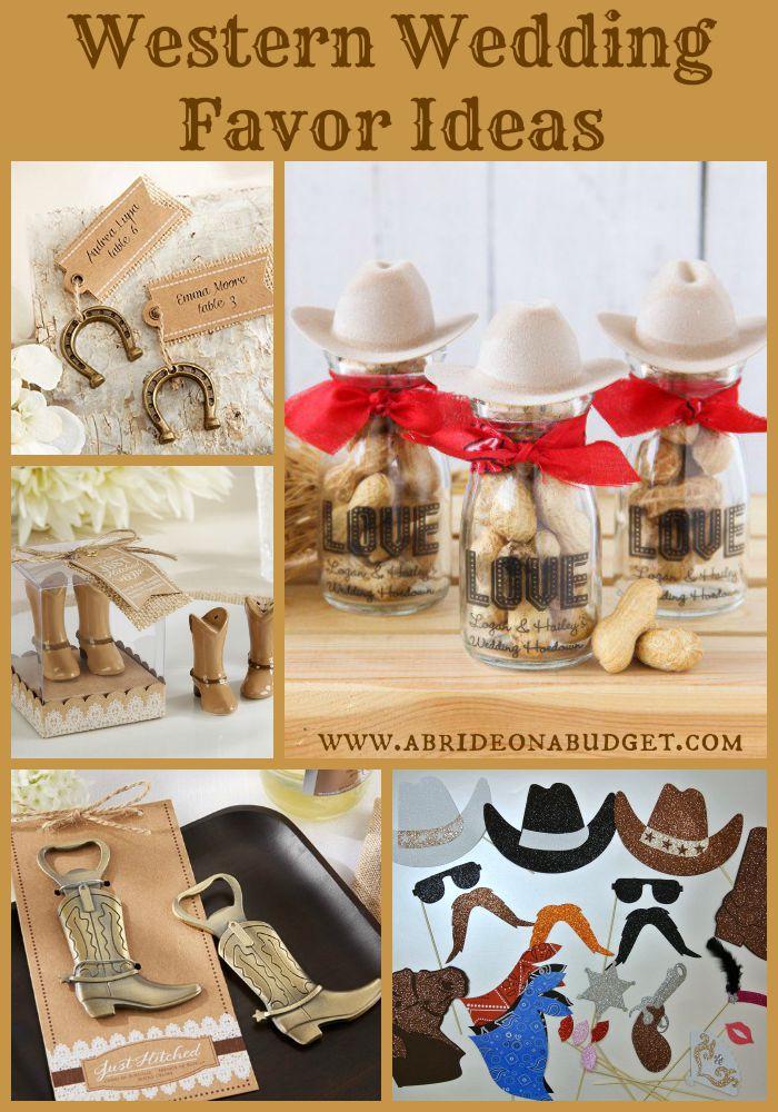 western wedding favor ideas - Cowboy Wedding Favors