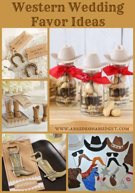 Planning a western wedding? Get Western Wedding Favor Ideas from www.abrideonabudget.com.