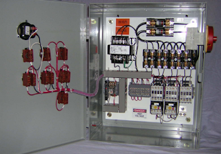Rangkaian Kontrol motor listrik 3 fasa hidup mati bergantian secara otomatis menggunakan Timer Delay Relay (TDR)