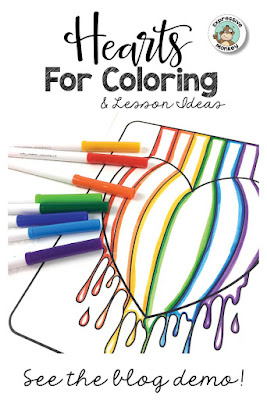 See how to use my FREE Printable Heart Coloring Pages for color mixing activities & color lessons.