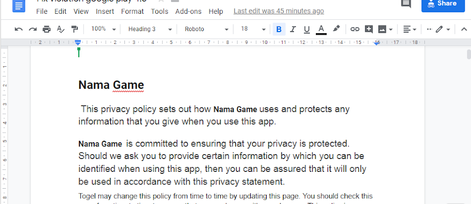 Fix violation google play 4.8