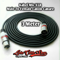 kabel mic XLR 3 meter male to Female Jack Canon Canare