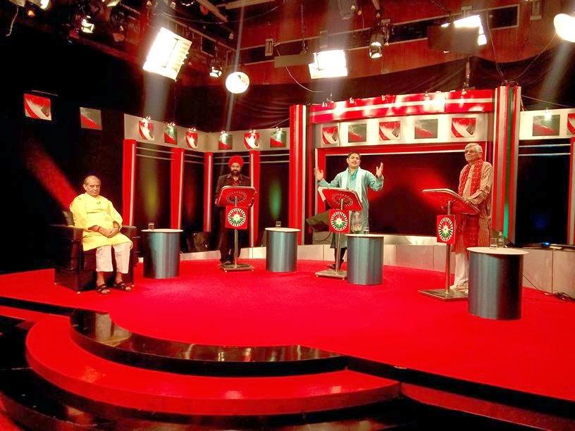 entertainment program show media visit at sahara samay news channel