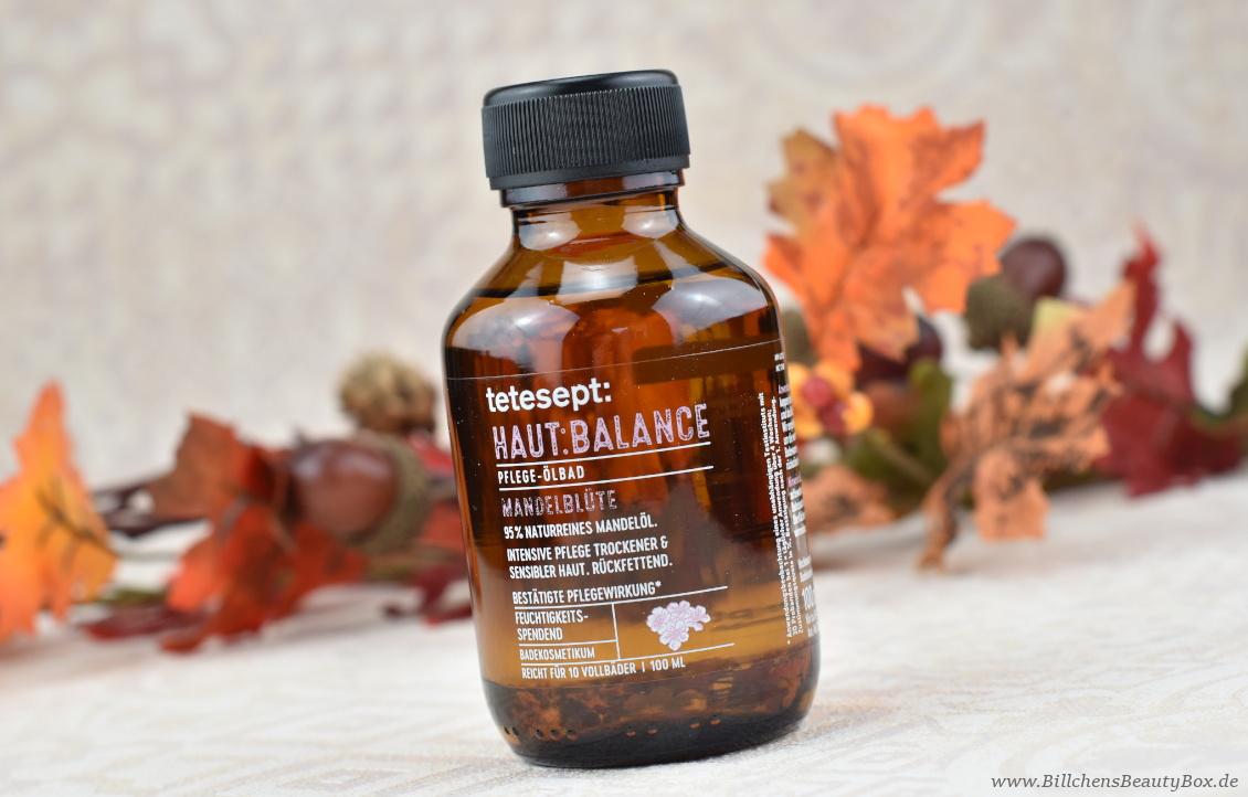 beautypress News Box Oktober 2018 - tetesept - HAUT: BALANCE Pflege-Ölbad mit Mandelblüte