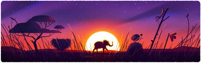 Google Doodle Hari Bumi 2016 Gajah