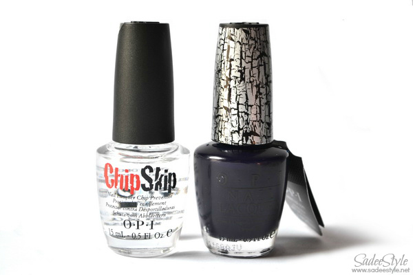 Navy shatter nail polish by OPI