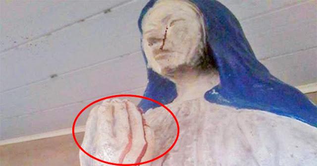 Bức tượng Đức mẹ bỗng nhiên khóc ra máu suốt hơn 1 tuần qua ở Bolivia