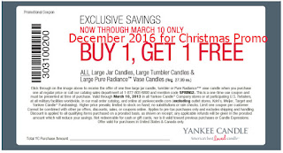 free Yankee Candle coupons december 2016