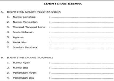Contoh Format Rapor TK/PAUD