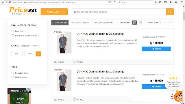 cek harga di Priceza Indonesia