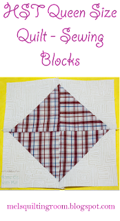 sewing square in a square blocks out of half square triangles.