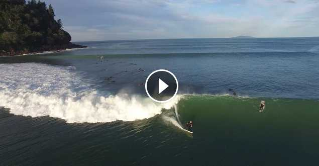 Whangamata Best Ever Surf Caught on Drone