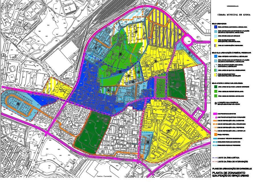 mapa de carnide ASSOCIAÇÃO DE MORADORES DA QUINTA da LUZ: Plano de Urbanização  mapa de carnide