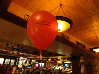 A Balloon at Frankie and Bennys