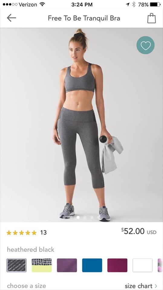 lululemon free-to-be-tranquil-bra heathered-black