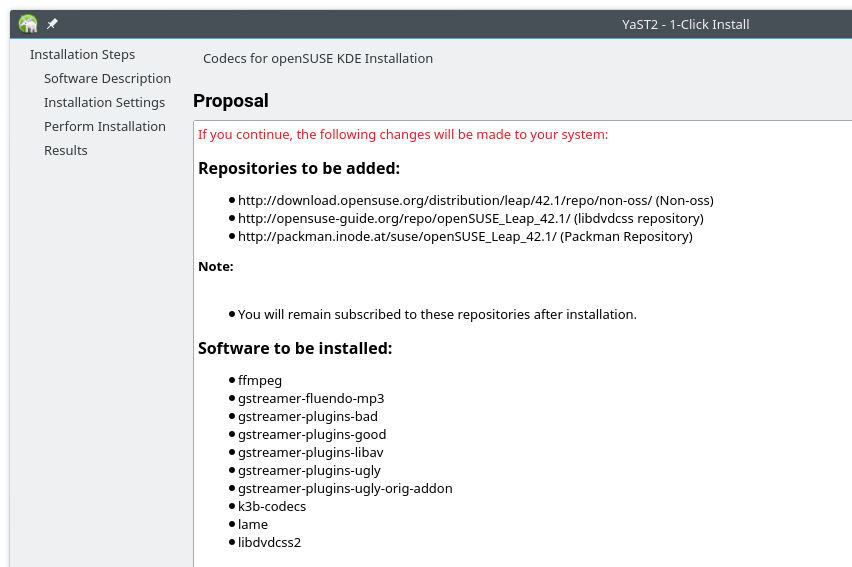 Quick Fix: VLC codec not supported in openSUSE 42 1 Leap KDE