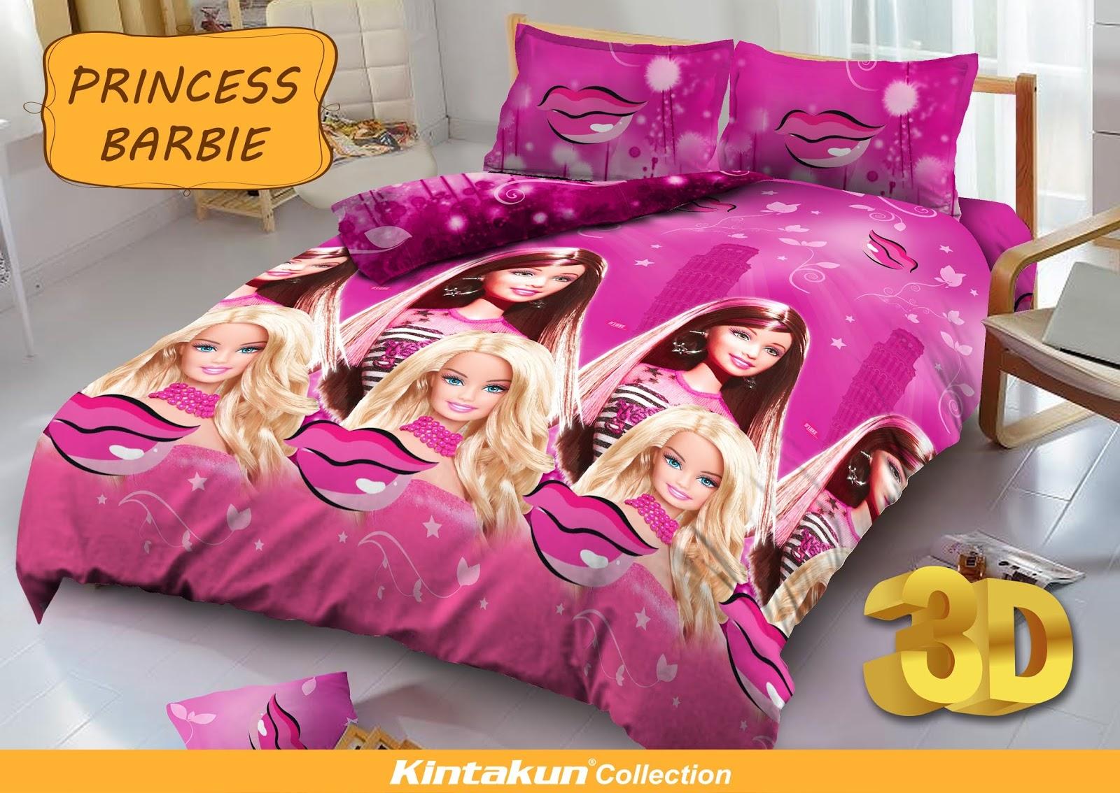 Pusat Grosir Sprei Dan Bedcover Surabaya Murah Berkualitas Kintakun Dluxe 180 X 200 B2 King Barbie Pop Star Princess