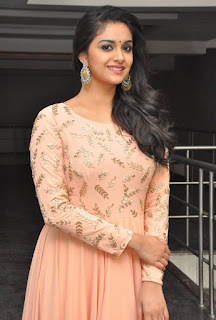 Keerthy Suresh with Cute and Awesome Lovely Chubby Cheeks Smile at Mahanati Success Meet 1