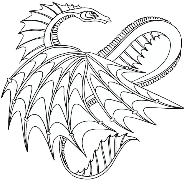 Great Printable Dragon Coloring Pages