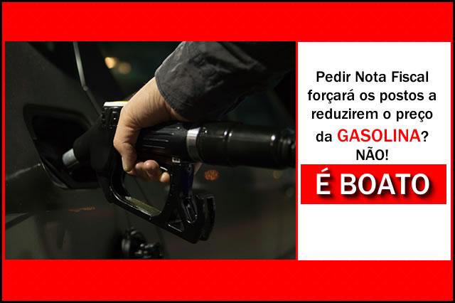 Exigir nota fiscal em posto vai baixar o preço da gasolina? Não, é boato.
