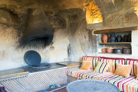 Fresco Cave otelde tandır odası, Kapadokya