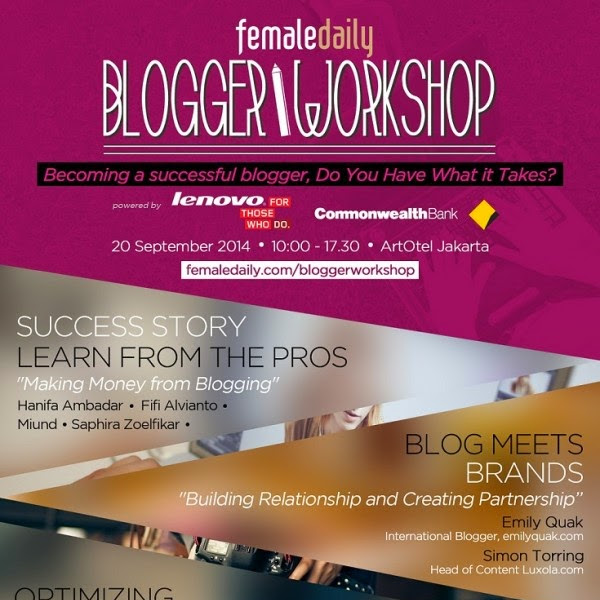 #FDBloggerWorkshop with Femaledaily :Let's Write Something Worth Reading