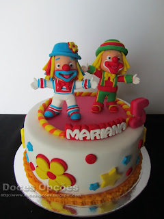 Clown birthday cake