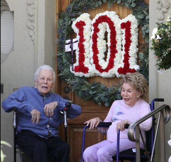 Oldest man in acting! Hollywood icon Kirk Douglas marks 101st birthday with wife, Anne, 98, by his side