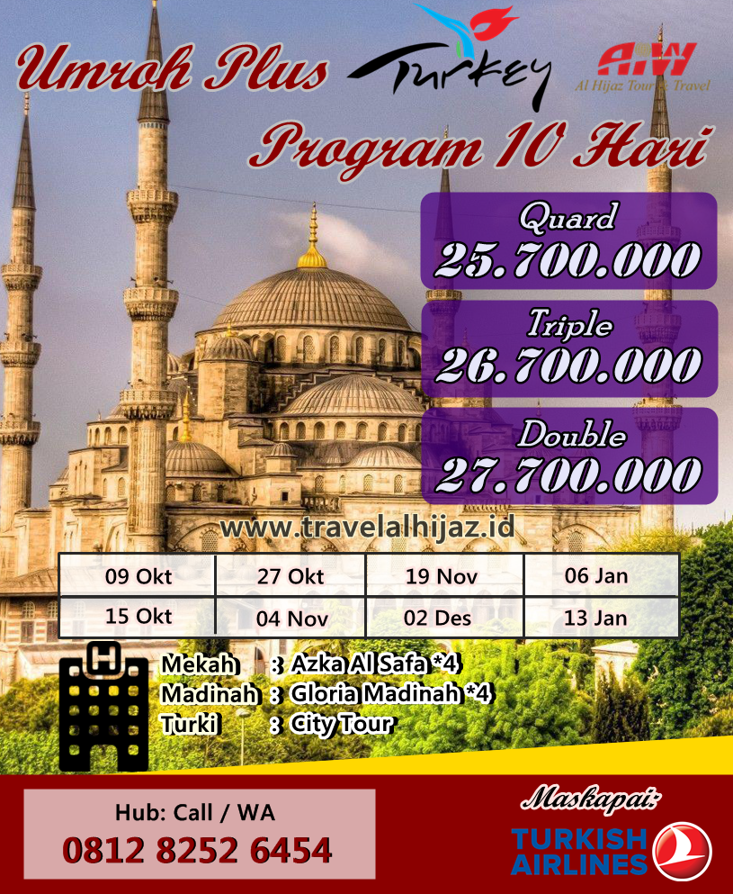 Permalink to Paket Umroh Plus Turki 2019-2020 Jadwal PASTI!