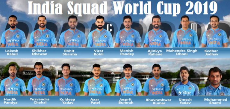 world cup 2019 indian players List
