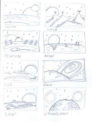 More Planets Types Art Sketch