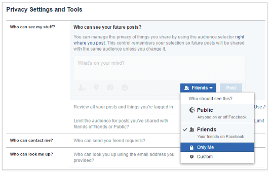 How Make Facebook Account Private<br/>