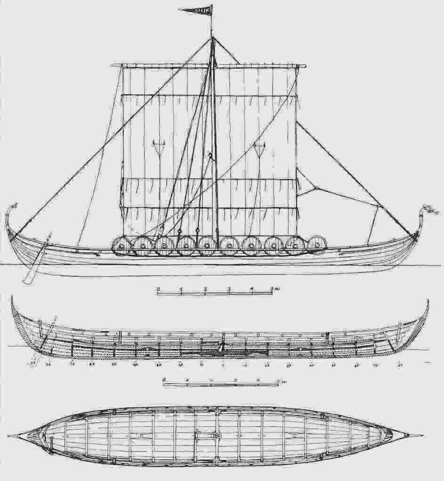 Label Parts Of A Viking Longship
