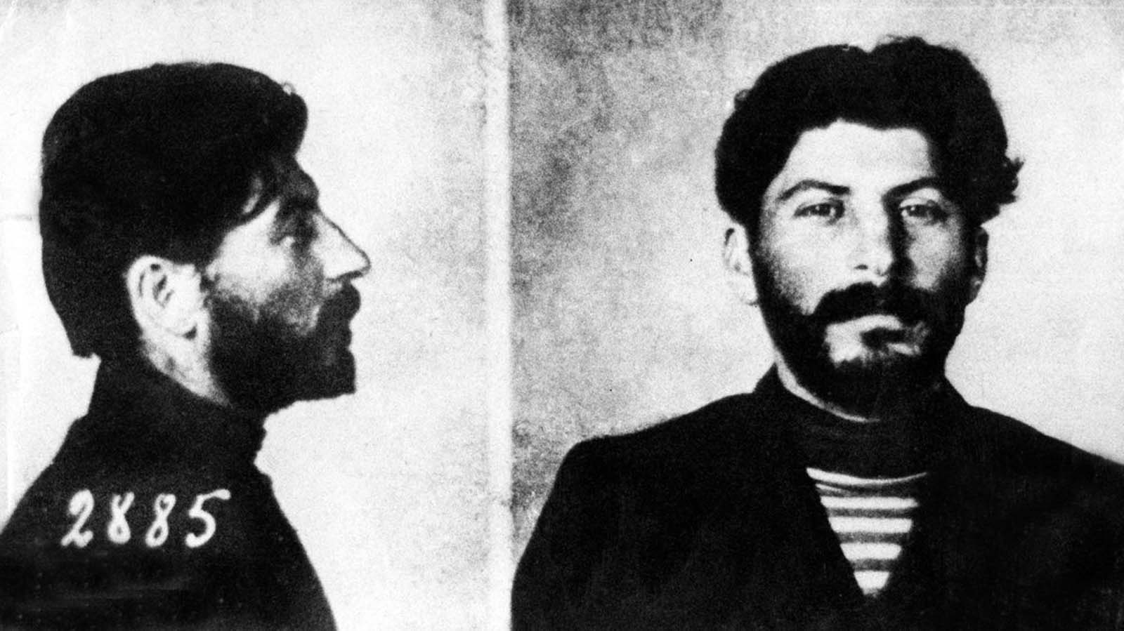 A mugshot of Stalin after an arrest. 1908.