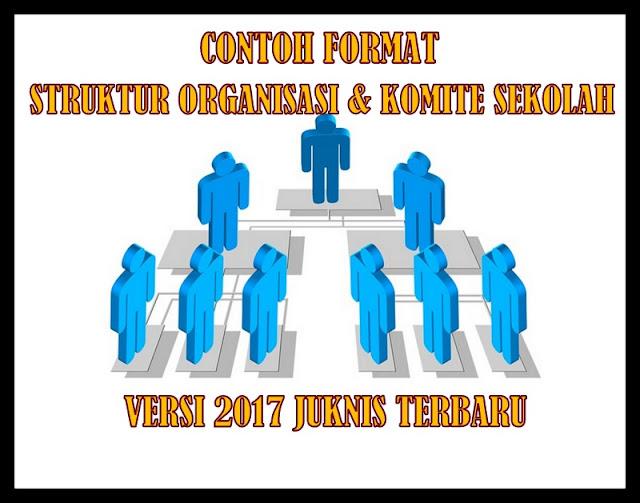 Contoh Format Struktur Organisasi & Komite Sekolah Versi 2017 Juknis Terbaru